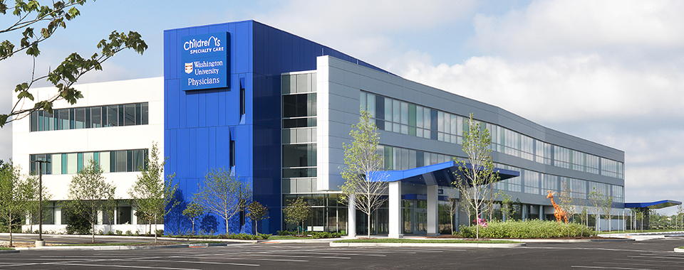 exterior image of the St. Louis Children's Specialty Care Center